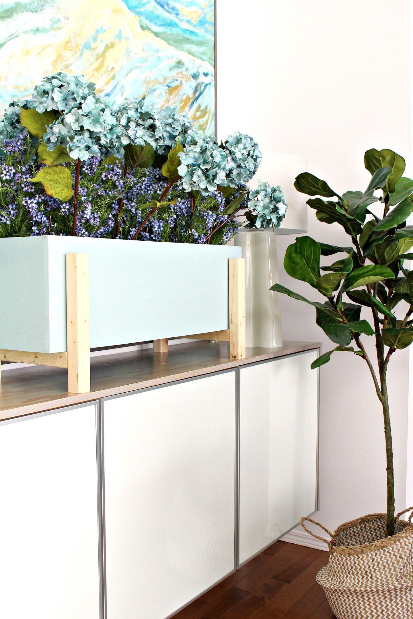 DIY Modern Flower Box