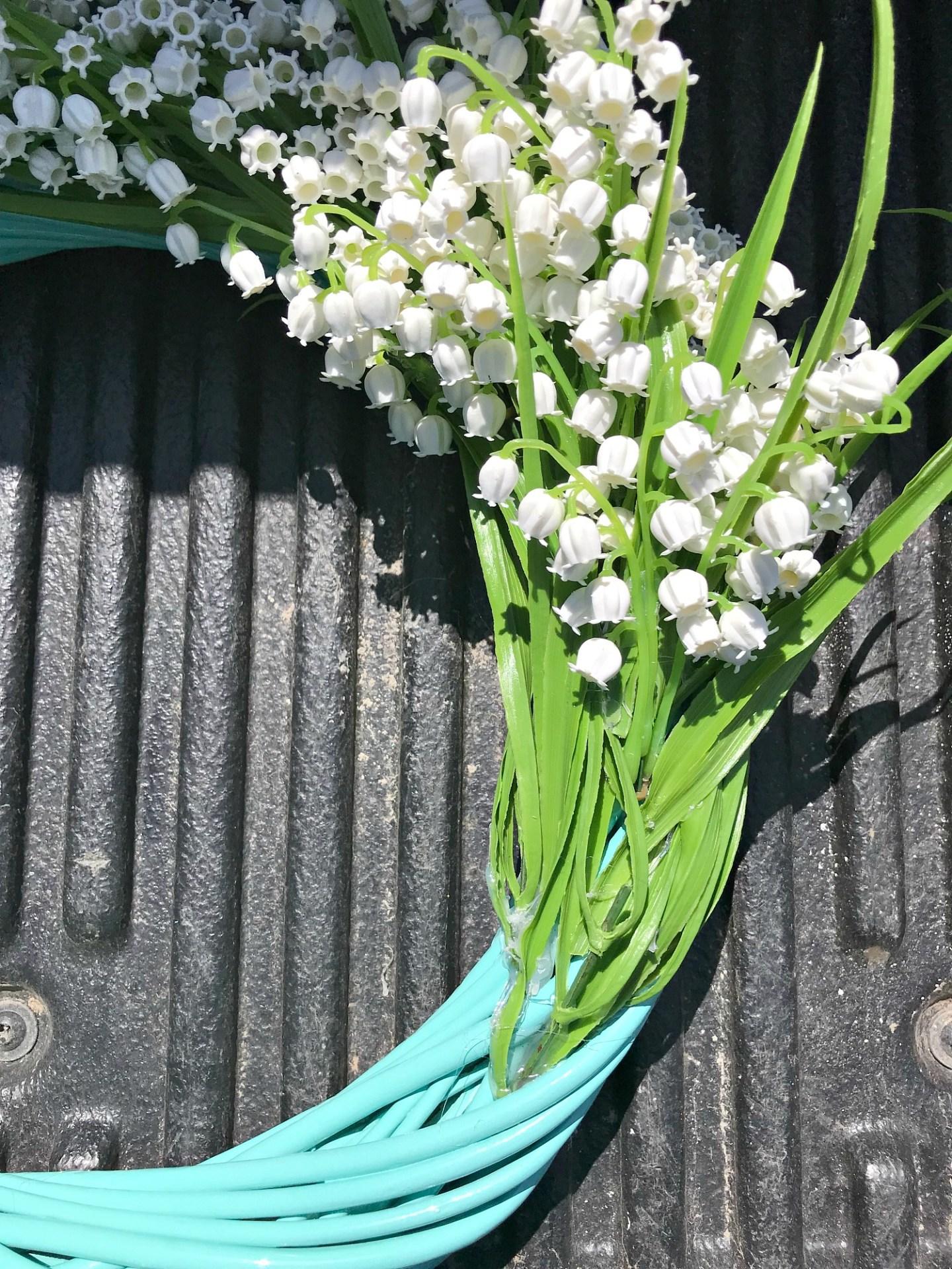 Faux Flower Wreath Tutorial