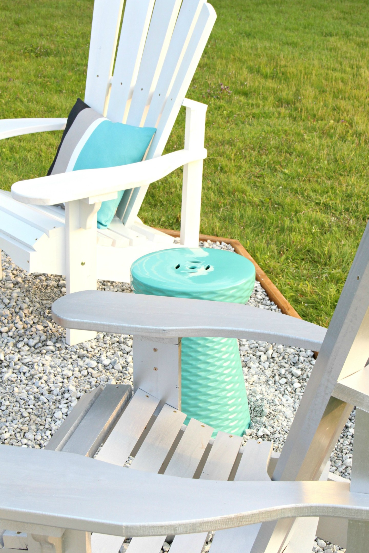 Beachy Fire Pit Makeover + DIY Ombre Adirondack Chairs (Sponsored by The Home Depot Canada)