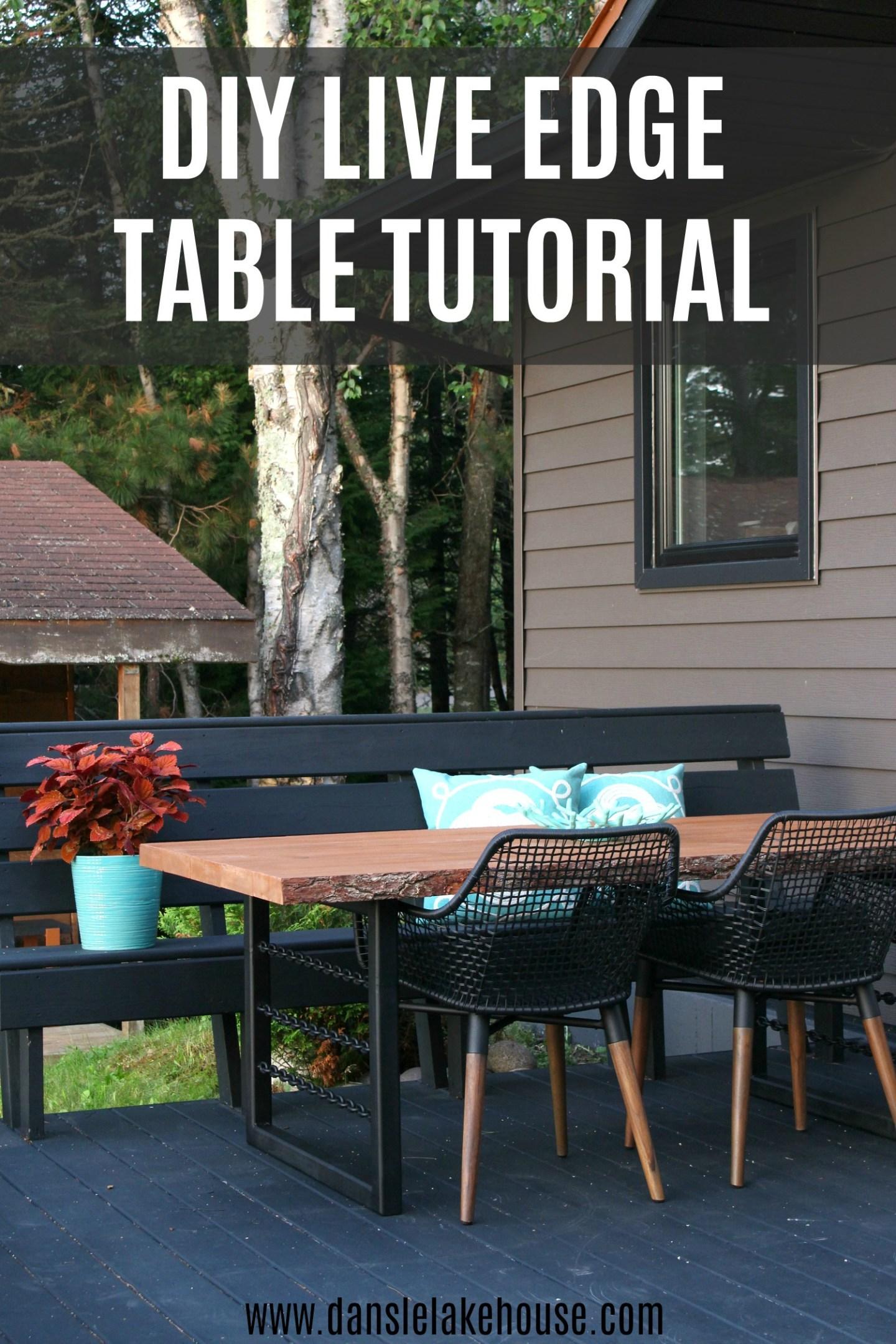 Easy DIY Live Edge Table Tutorial