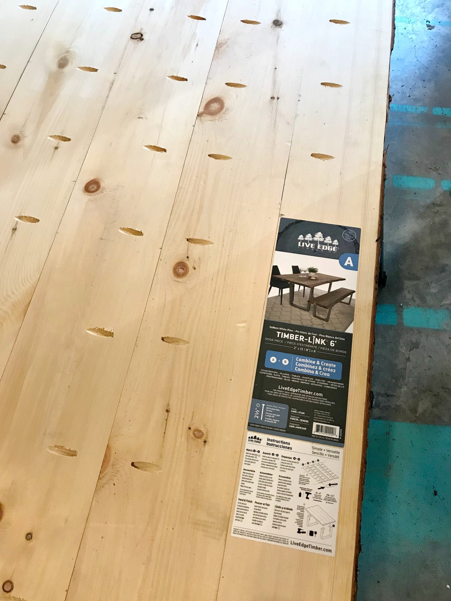 Assembling Live Edge Timber Co Wood for Table Top