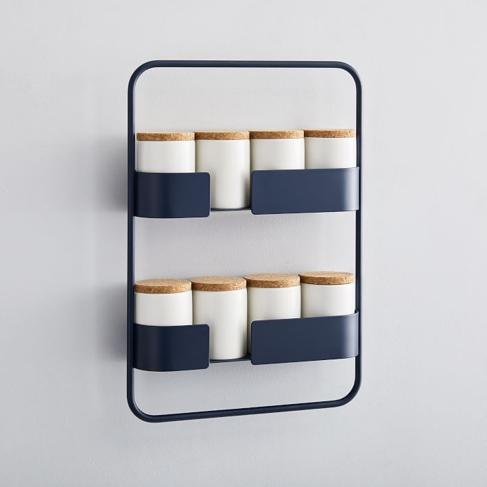 Chic and Modern Navy Blue Spice Rack from West Elm