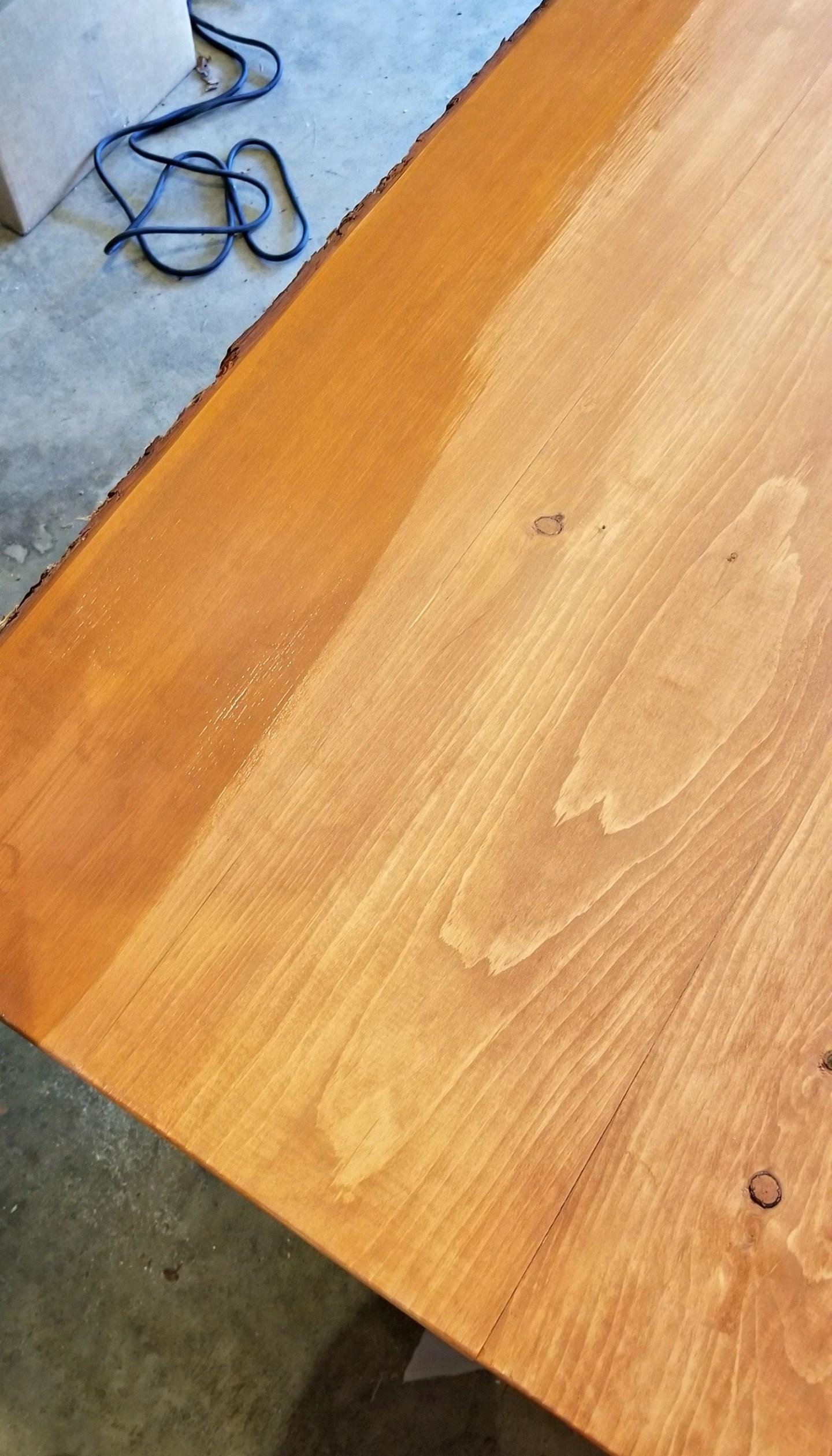 Behr Chestnut Stain on Pine Wood