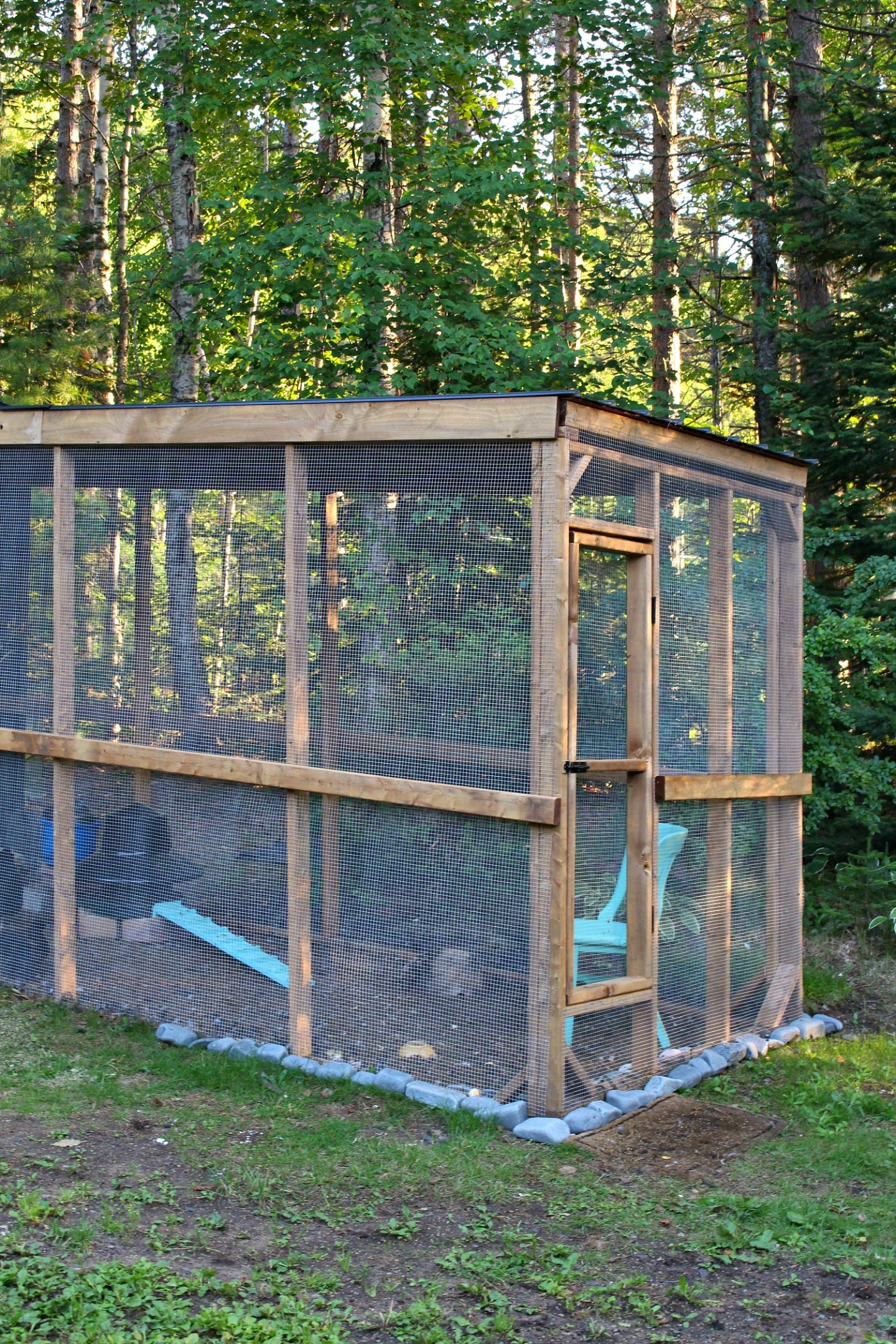 Sheltered Chicken Run DIY Tutorial