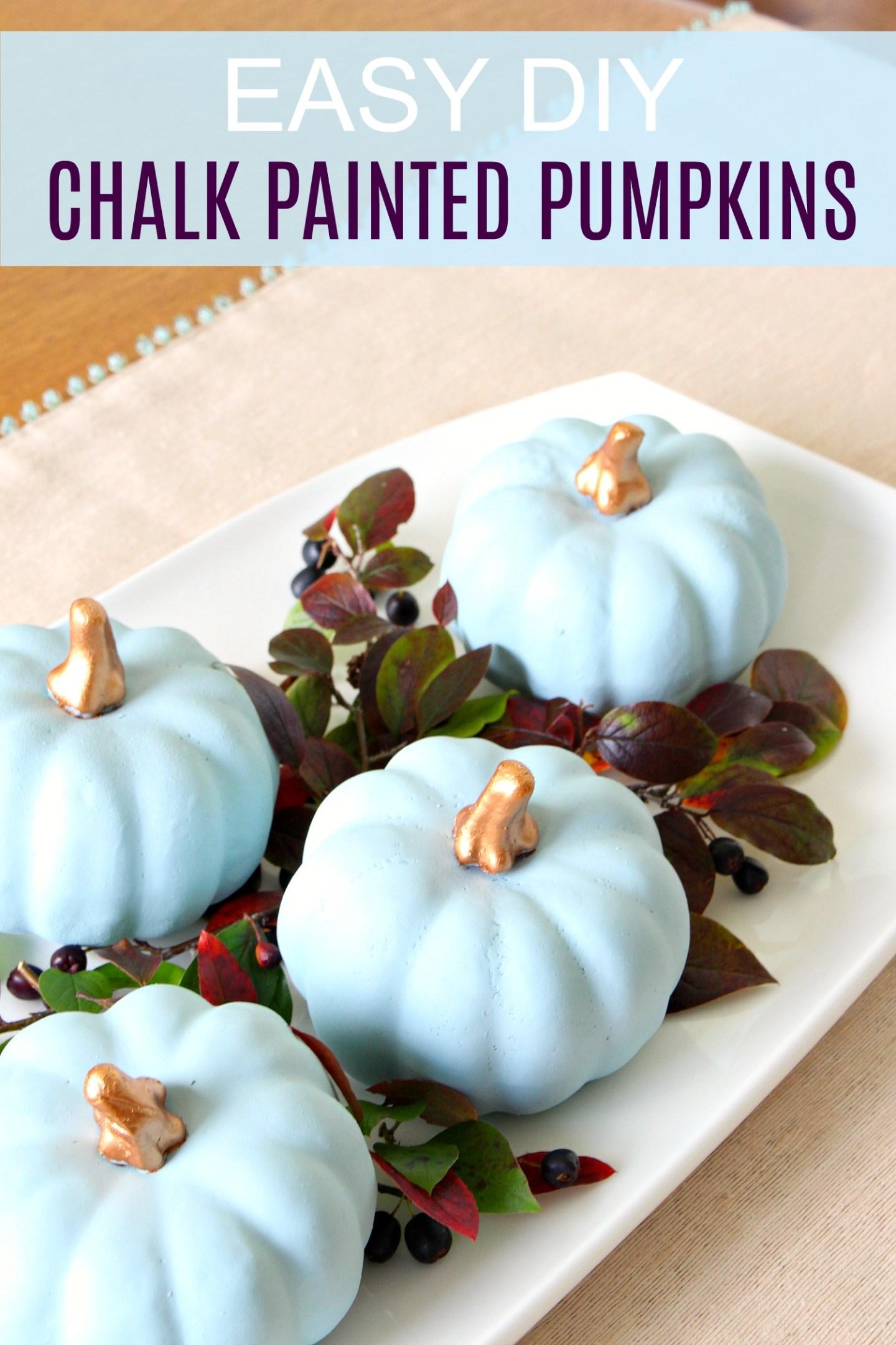 DIY Chalk Painted Pumpkins | Make Blue/Grey Heirloom Pumpkins!
