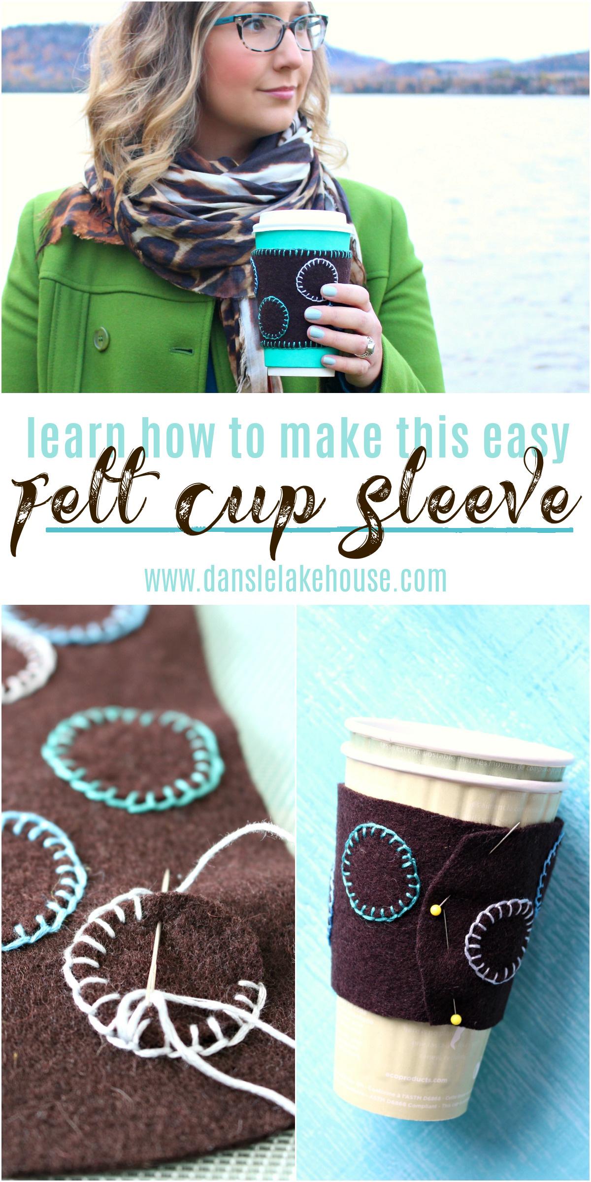 DIY Felt Cup Sleeve Tutorial