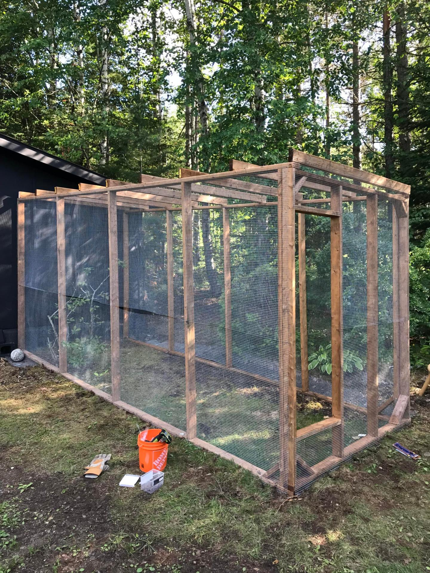 How to Install Hardware Cloth on Chicken Run