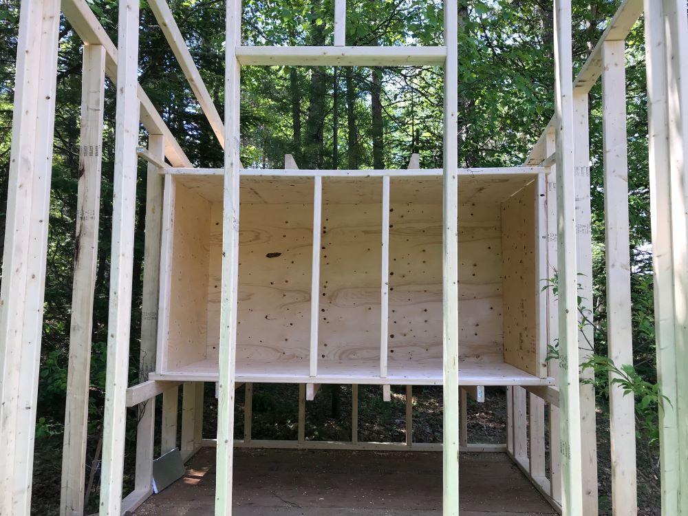Chicken Coop Built Inside Mini Barn