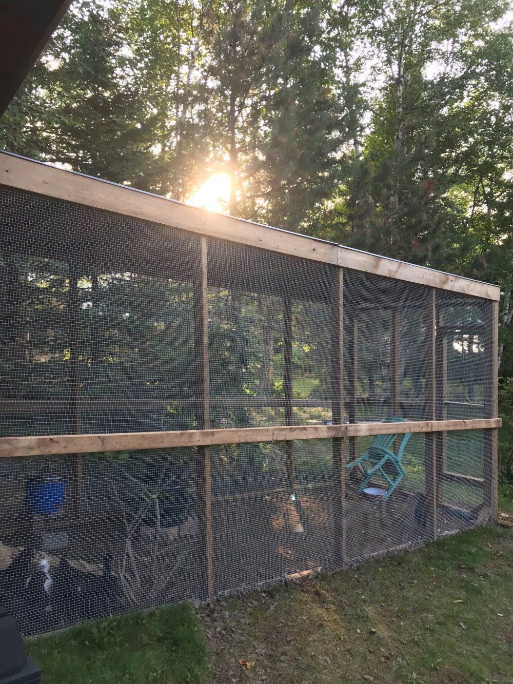 DIY Sheltered Chicken Run