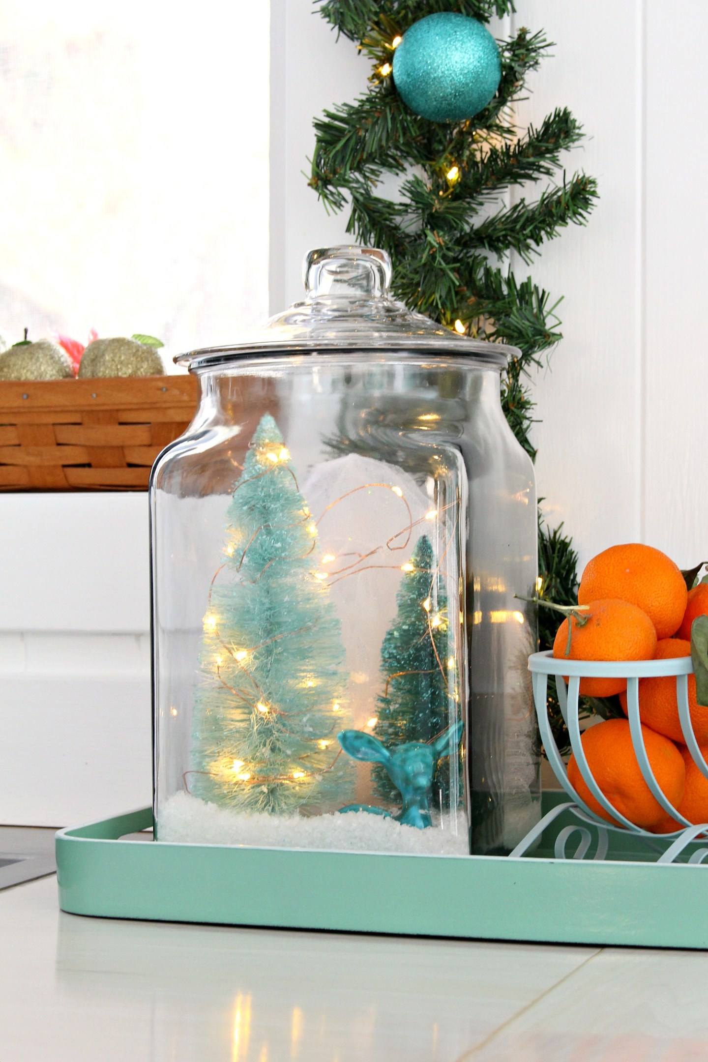 DIY Glass Jar Winter Scene