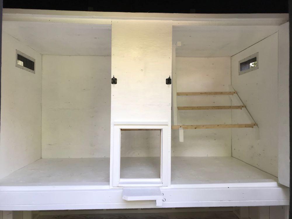 DIY Chicken Coop Built Inside a Shed