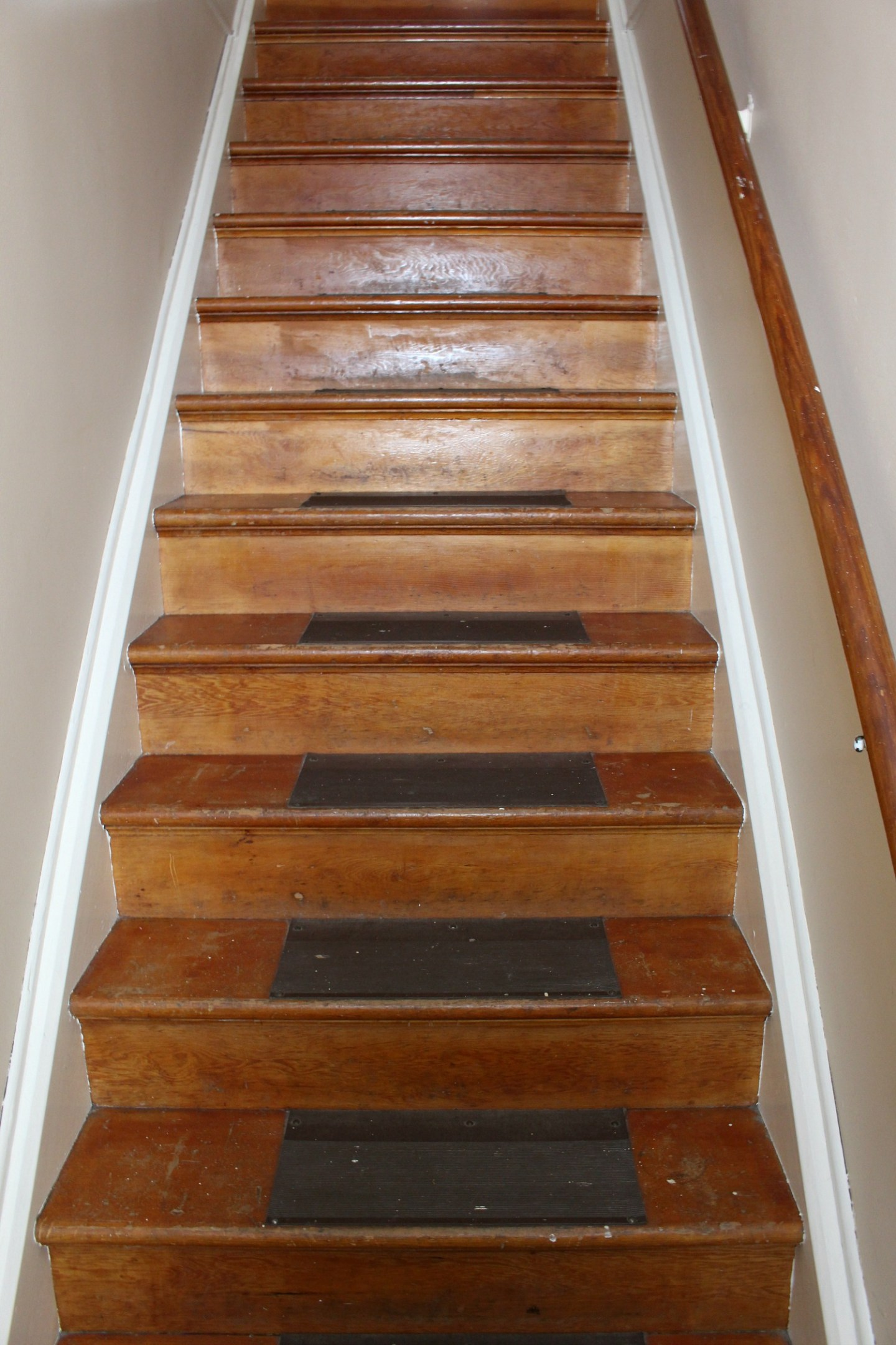 wood stairs before