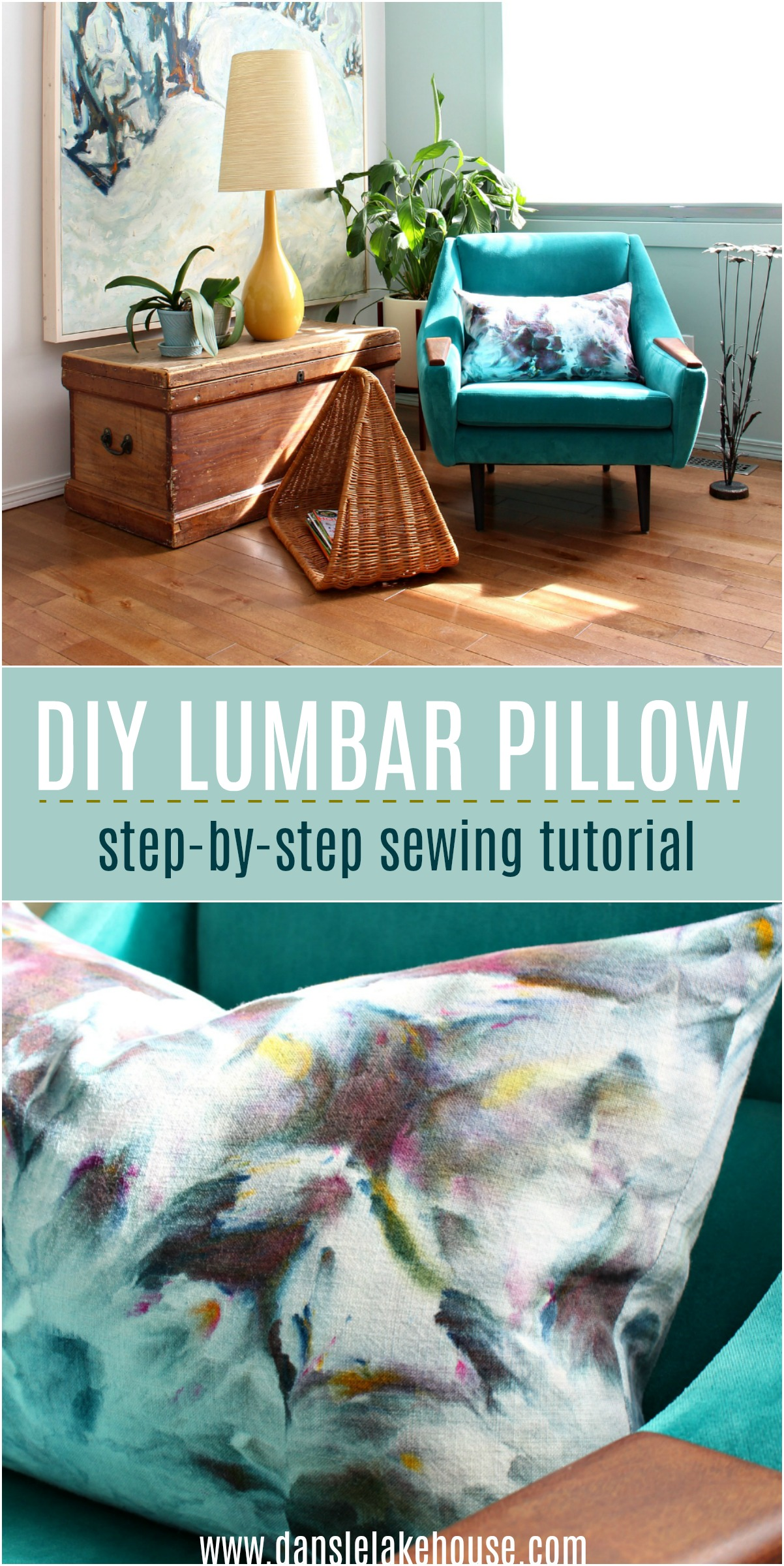 How to Sew a Lumbar Pillow | Learn How to Sew a Throw Pillow with a Zipper