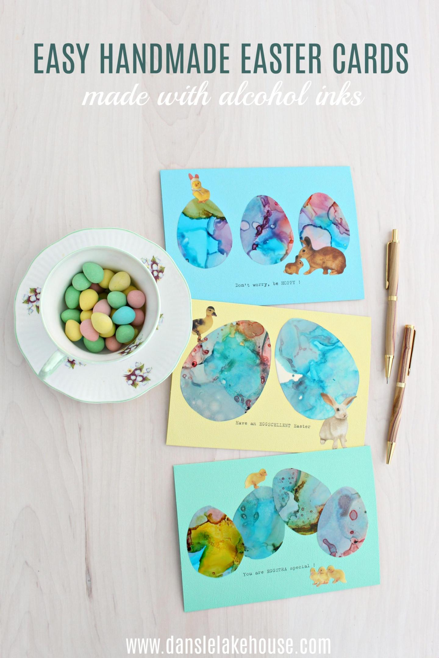 Handmade Easter cards with puns
