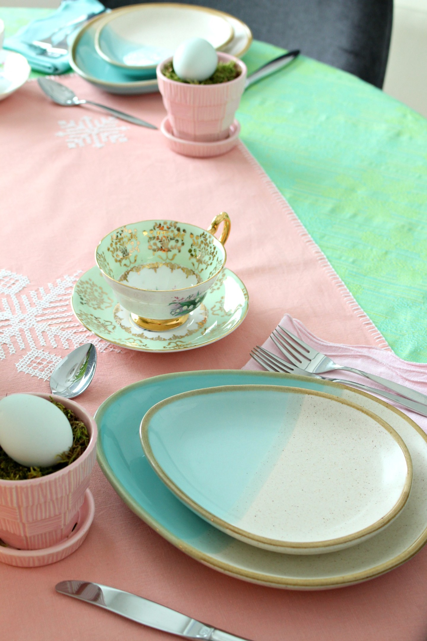 handmade pottery egg shaped plates