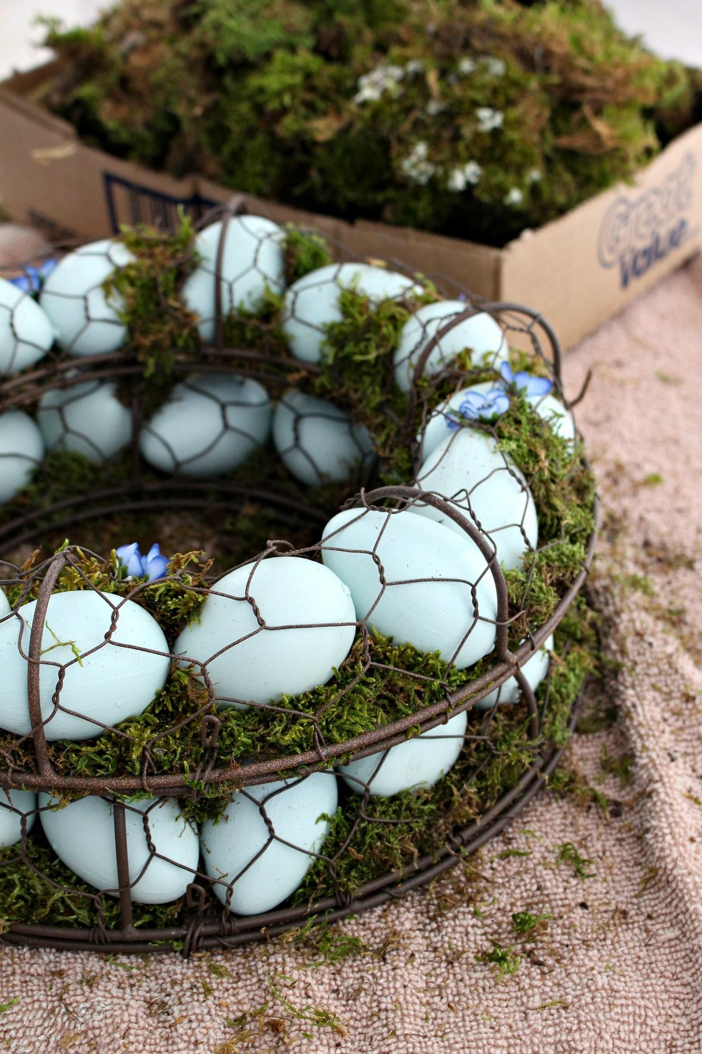 Moss Egg Wreath DIY