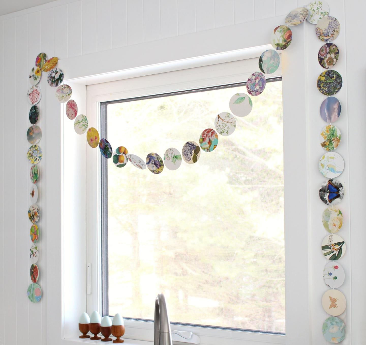 DIY Free Spring Decor Idea: Upcycled Card Garland