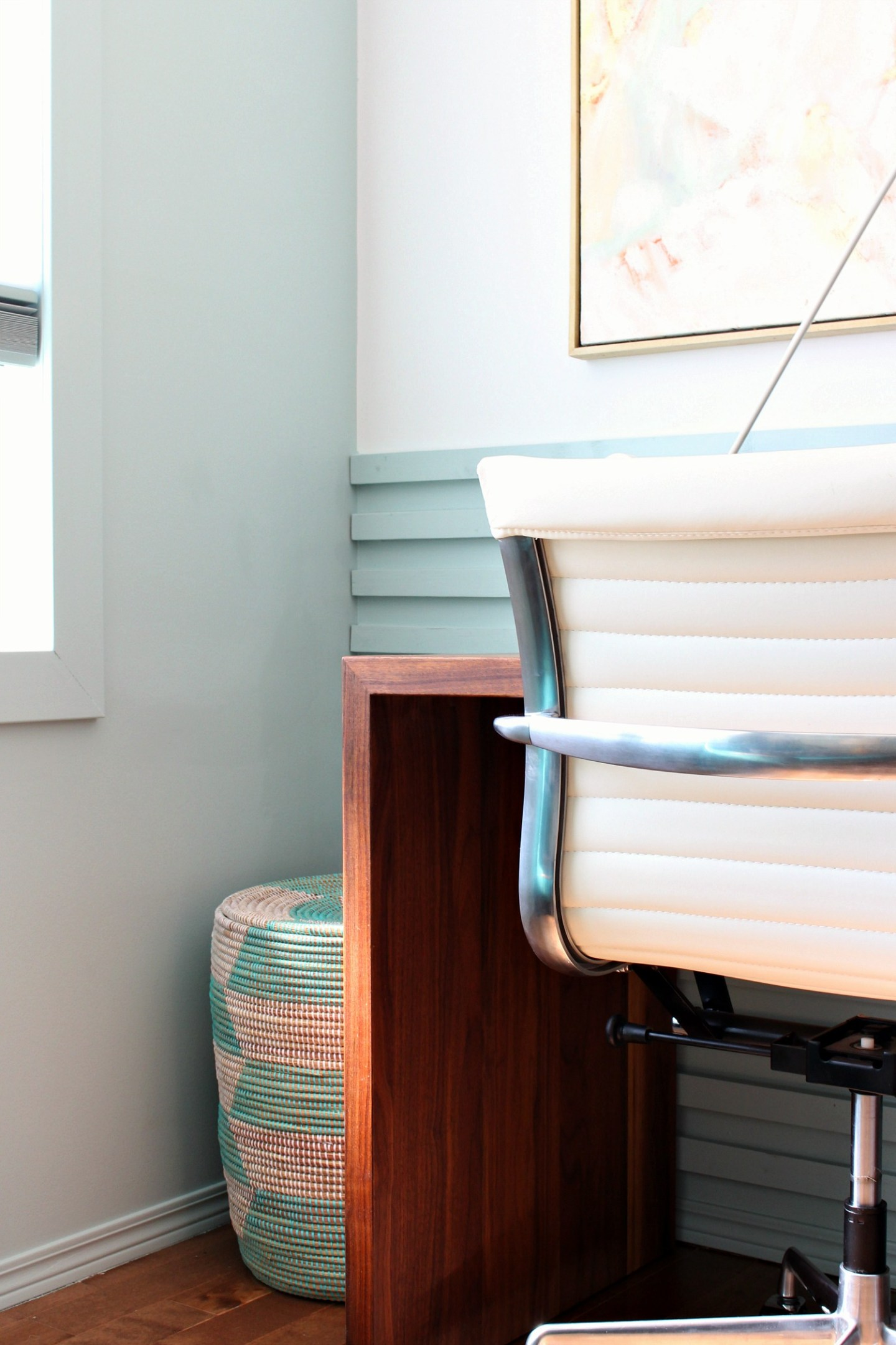 Slatted Wood Accent Wall