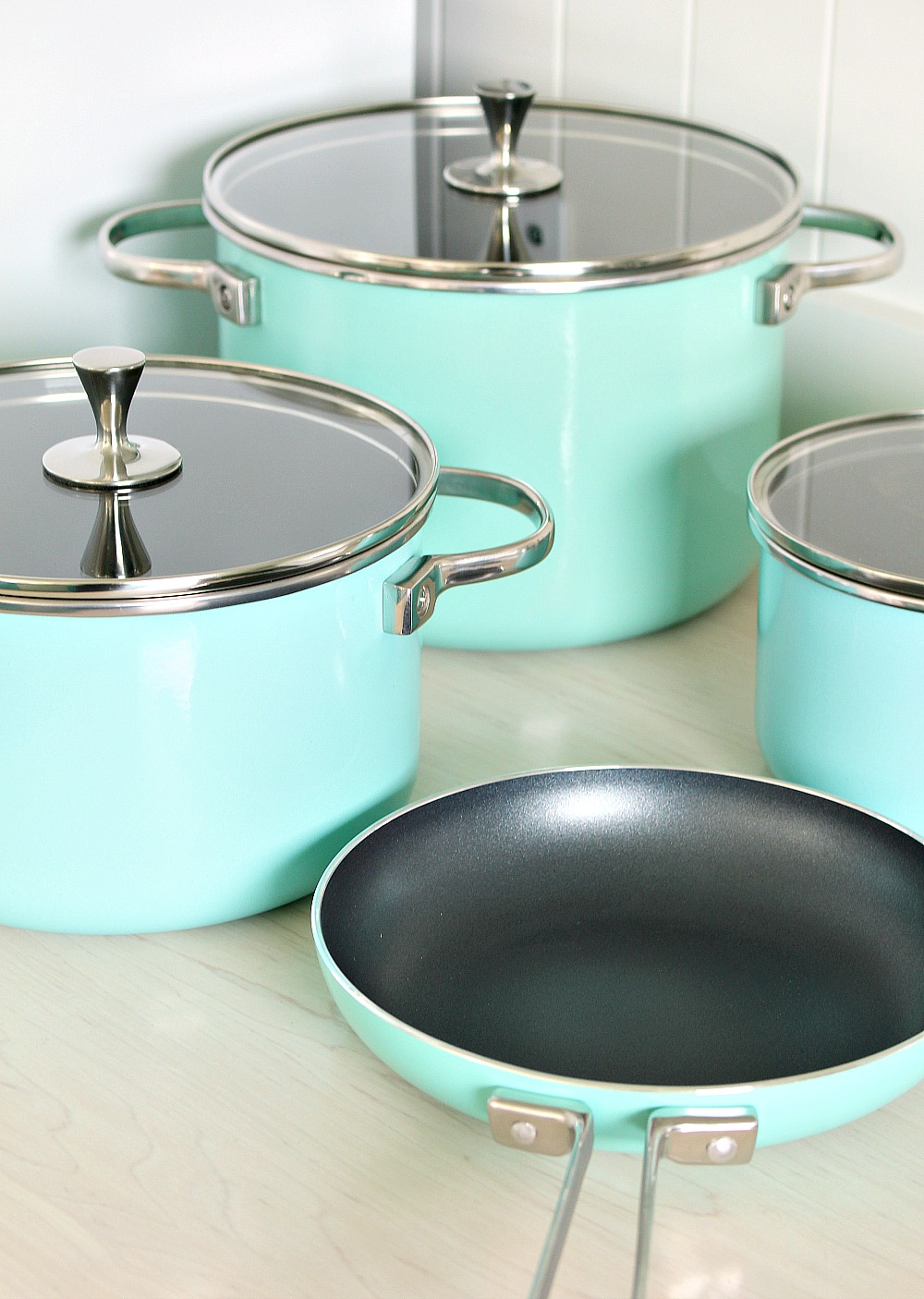 Turquoise Pots and Pans