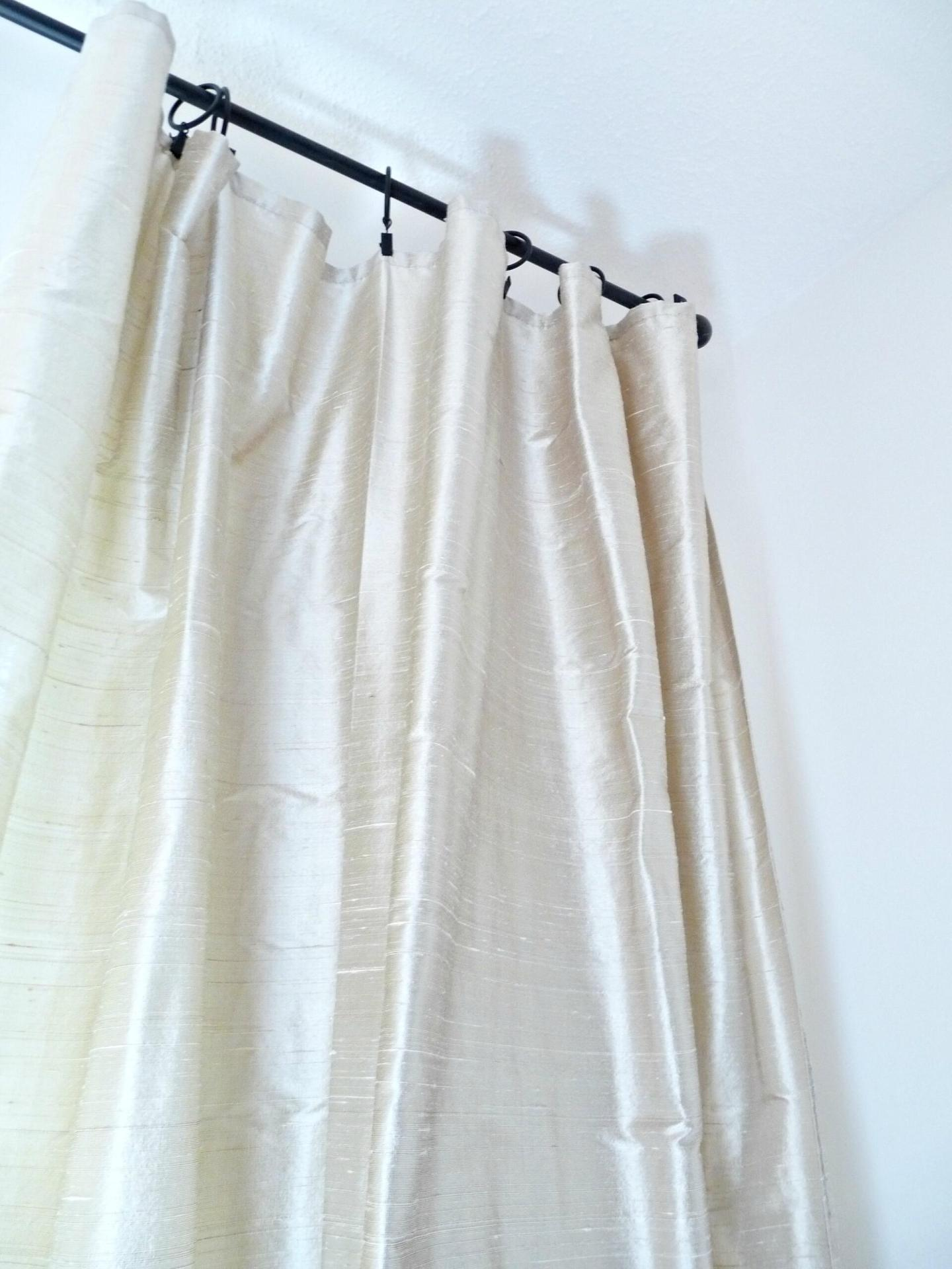 How to Sew Silk Drapes