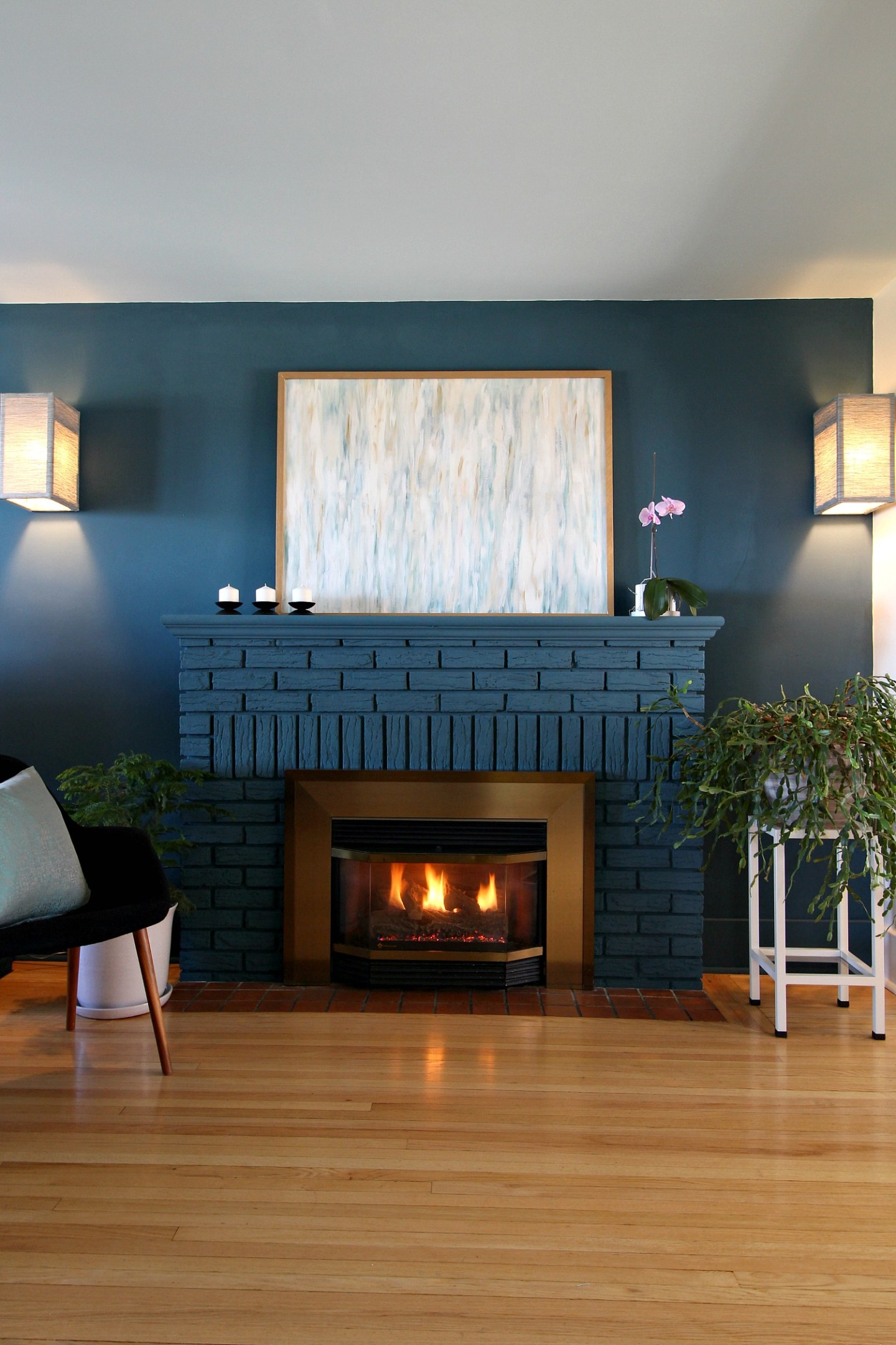 Fireplace Painted with Chalk Paint