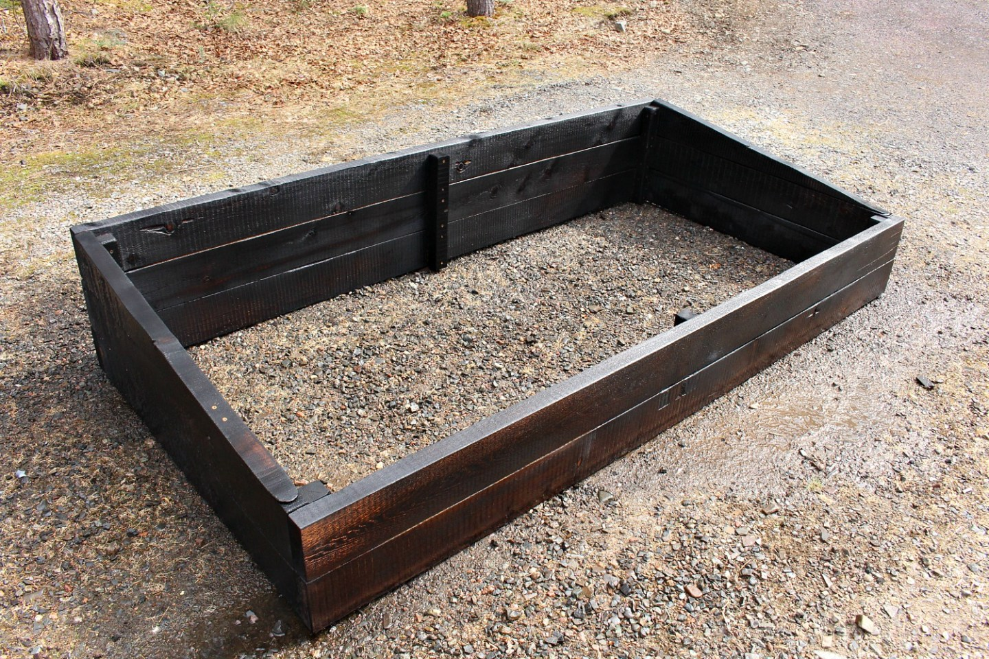 Easy DIY Cold Frame Garden Beds with Shou Sugi Ban Finish