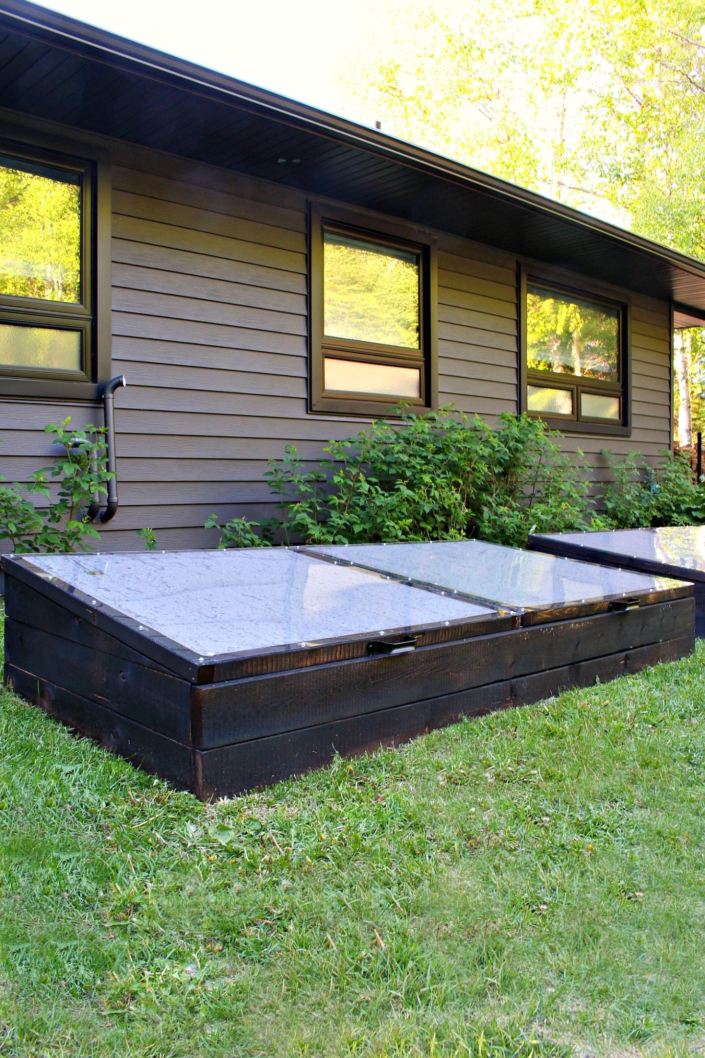 Black Cold Frame Garden Beds