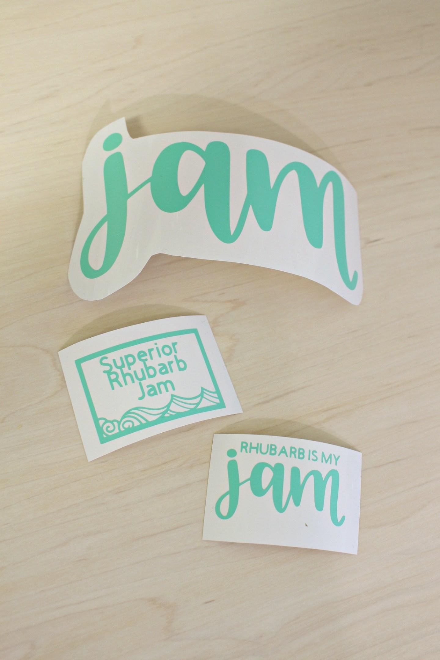 Cricut Jam Labels