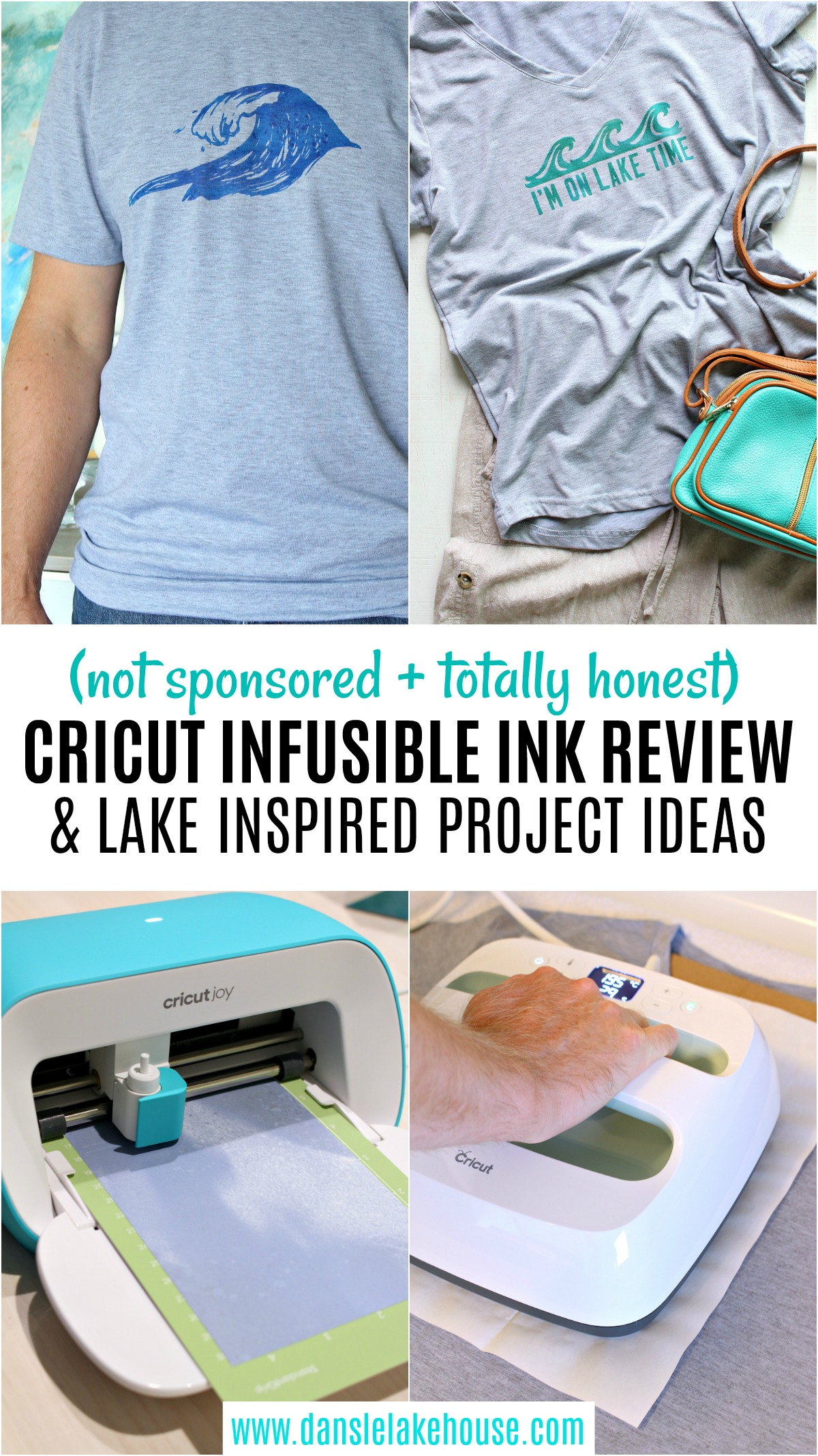 Cricut Infusible Ink Review (Not Sponsored) and Lake Inspired Project Ideas