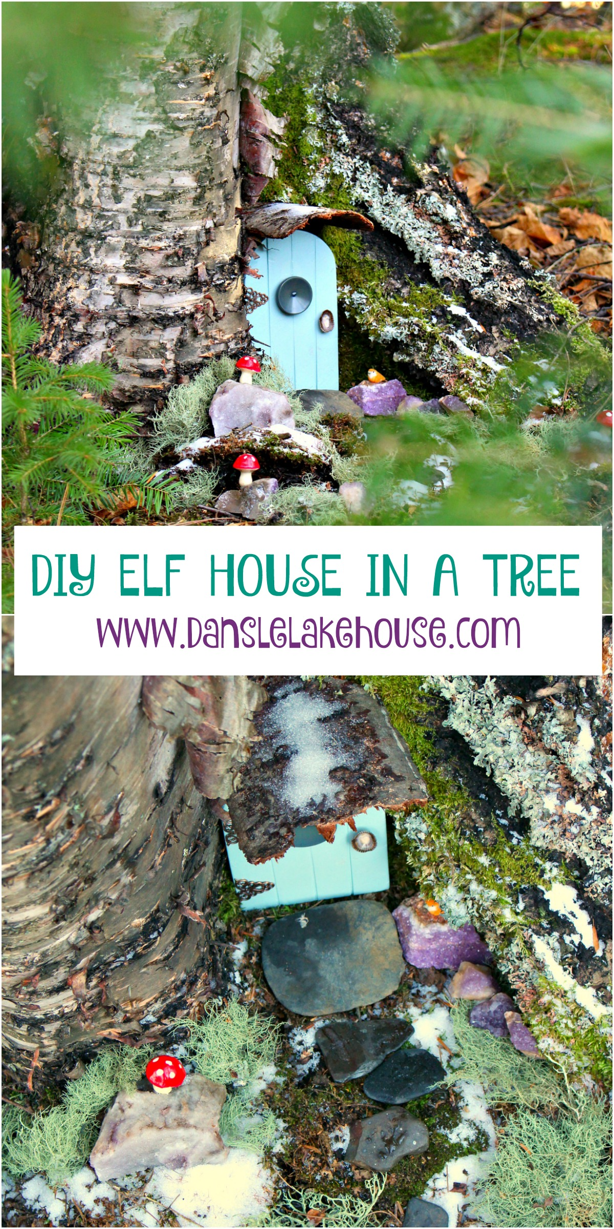 DIY Elf House in a Tree Project