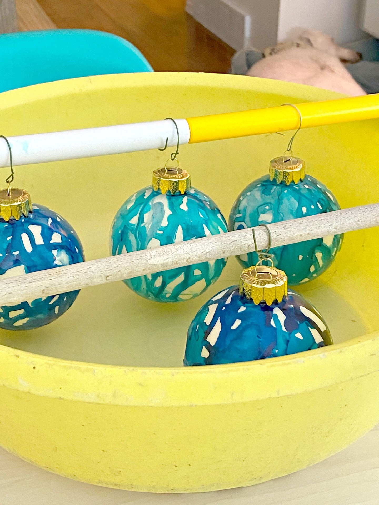 How to Dry Hand Painted Ornaments