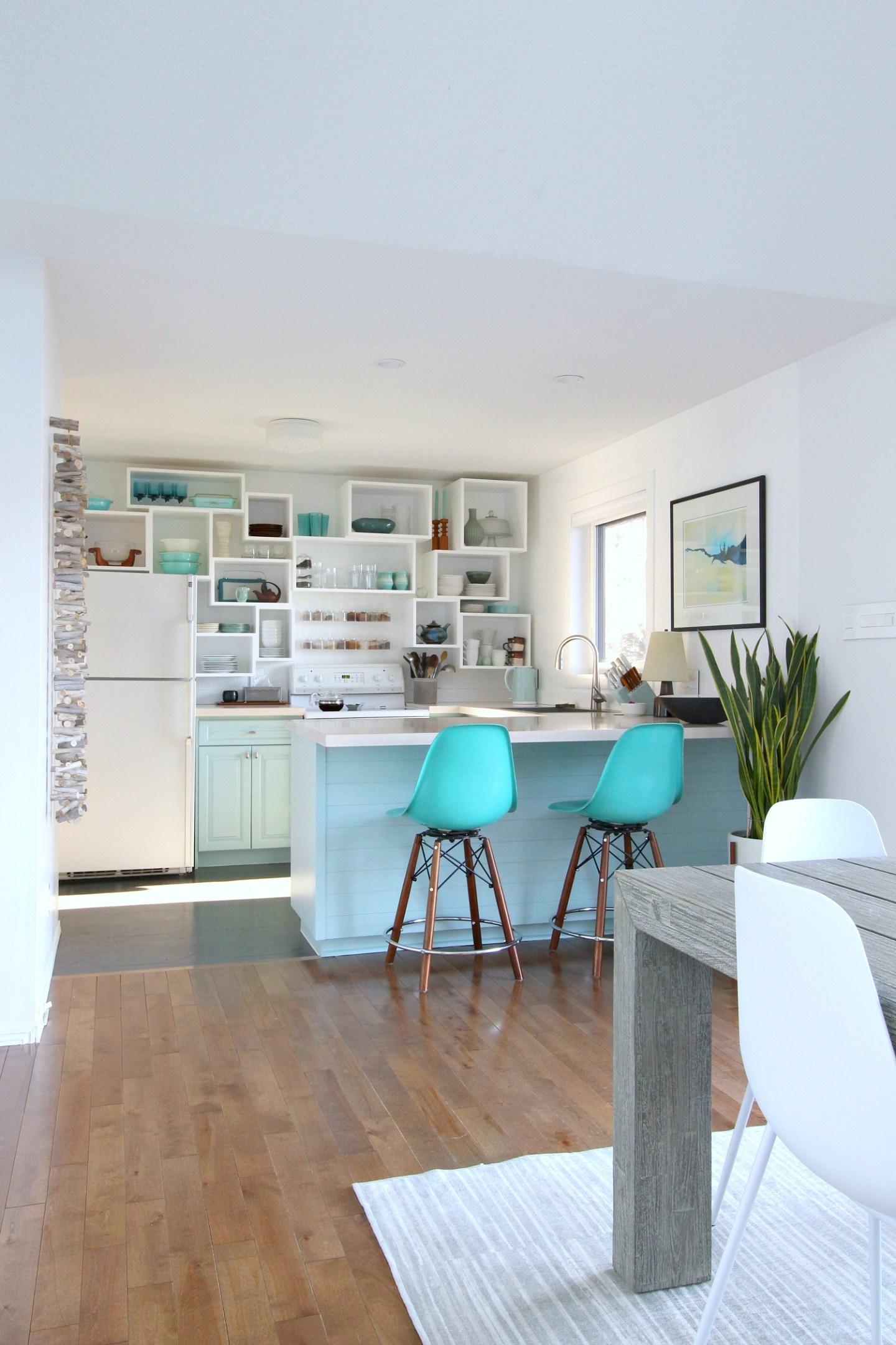 DIY Beachy Kitchen Makeover