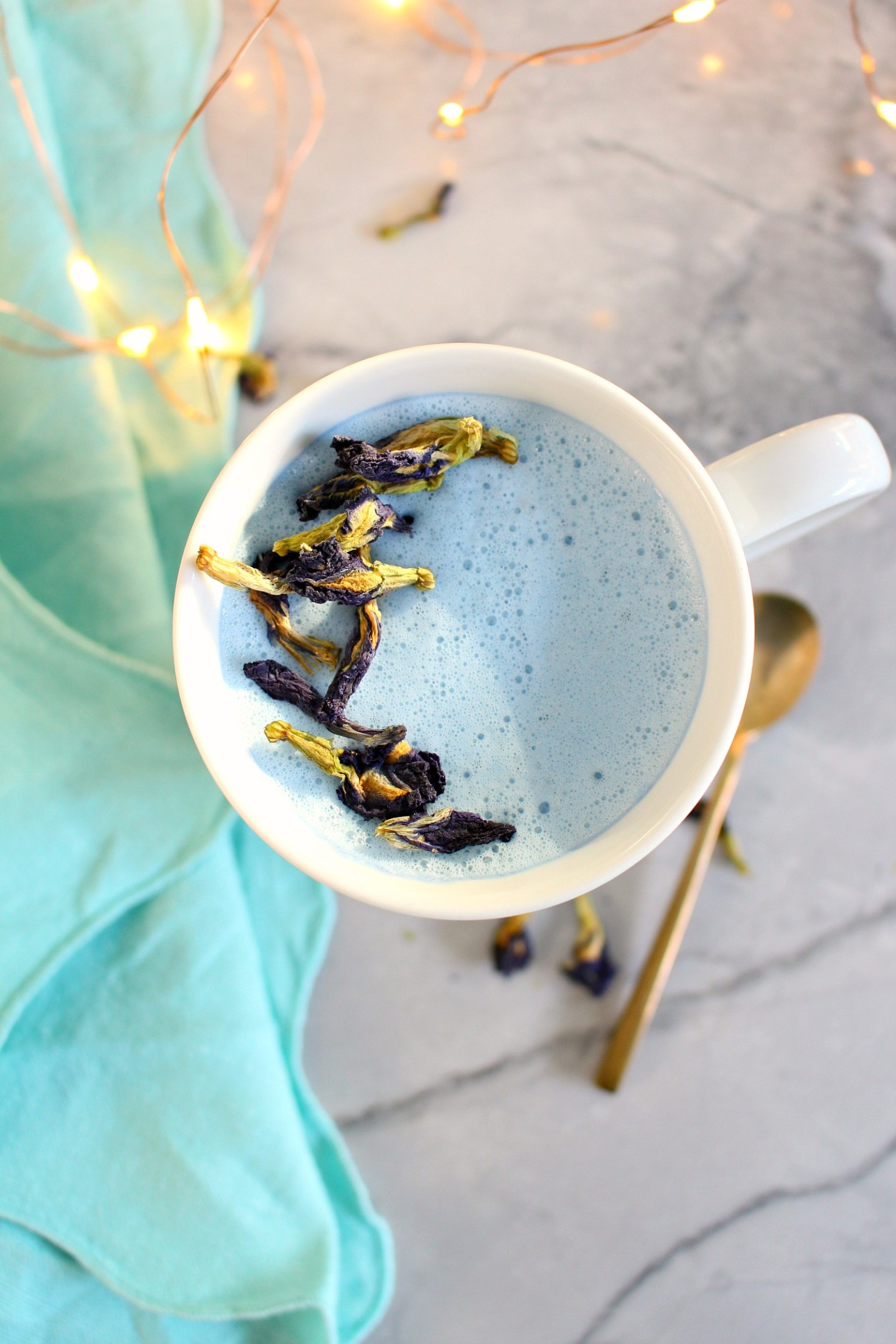 Blue Latte Recipe | How to Make a Butterfly Pea Flower Latte