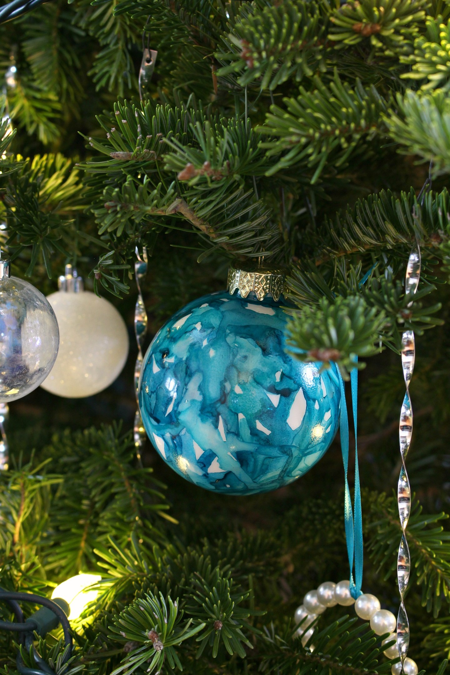 Hand Painted Ink Ornaments