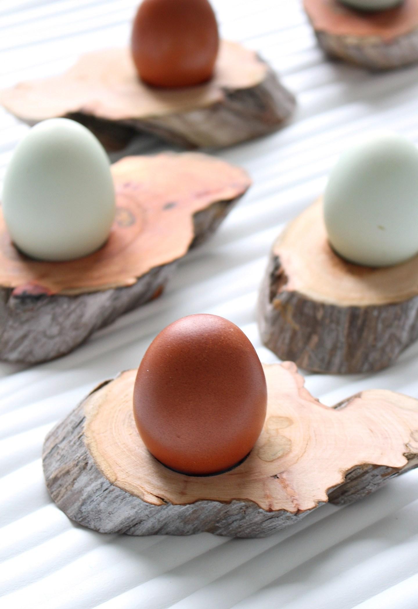 DIY Driftwood Egg Cups
