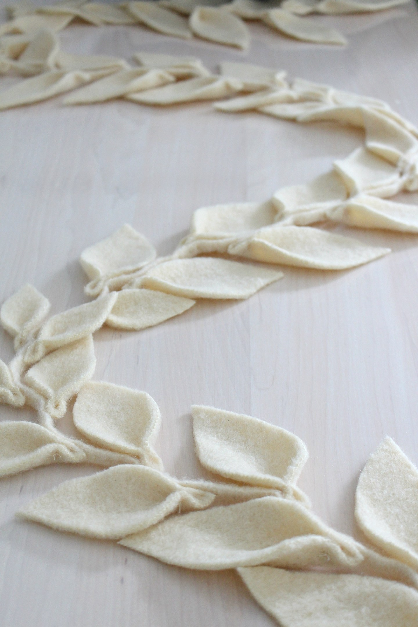 Learn how to make a felt leaf garland