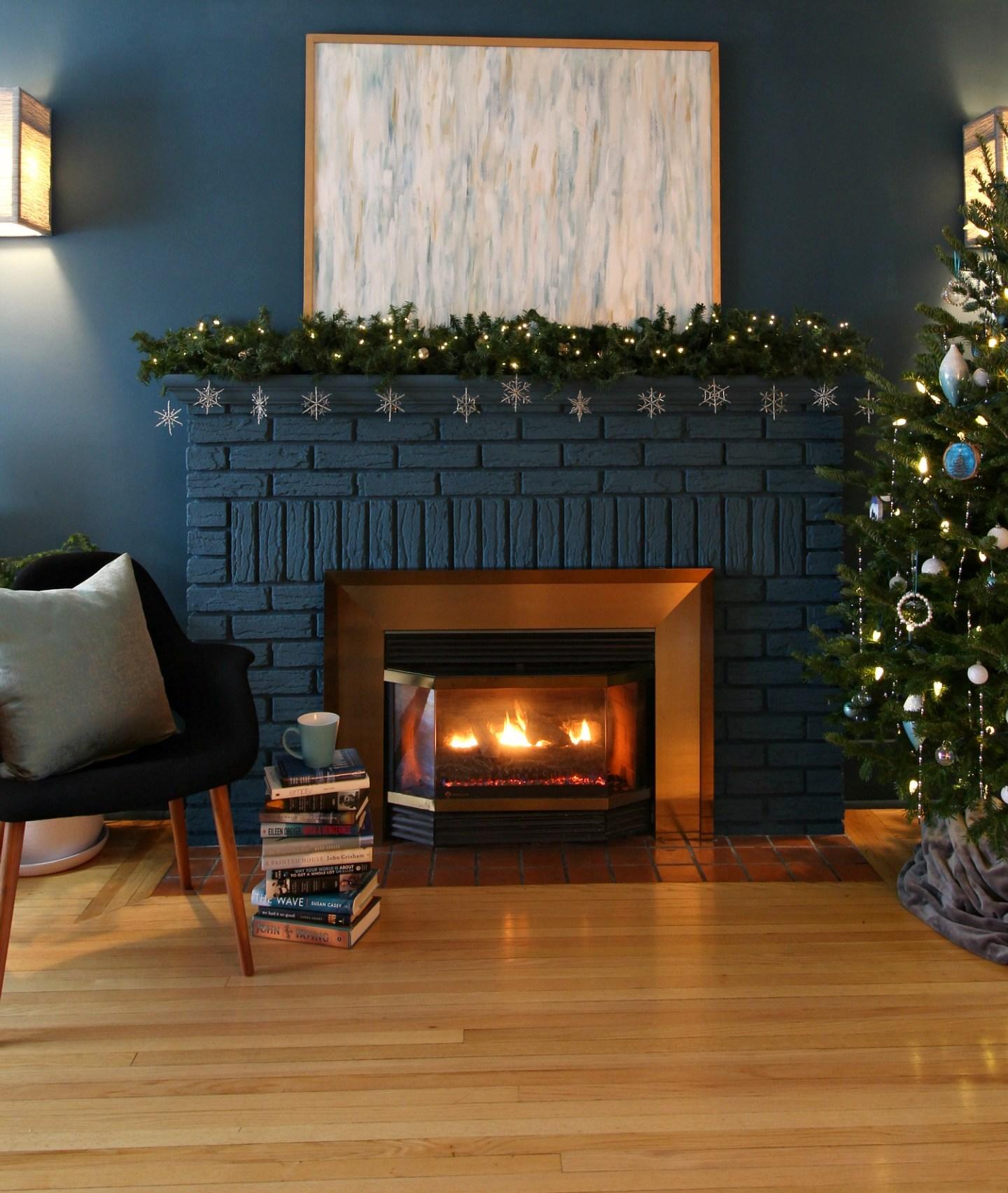 Winter Mantel Decor After Christmas
