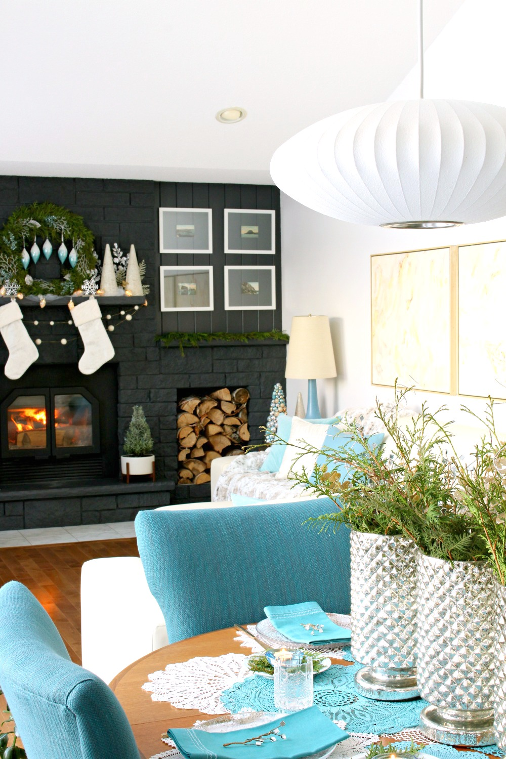 Blue and White Holiday Decorating Ideas