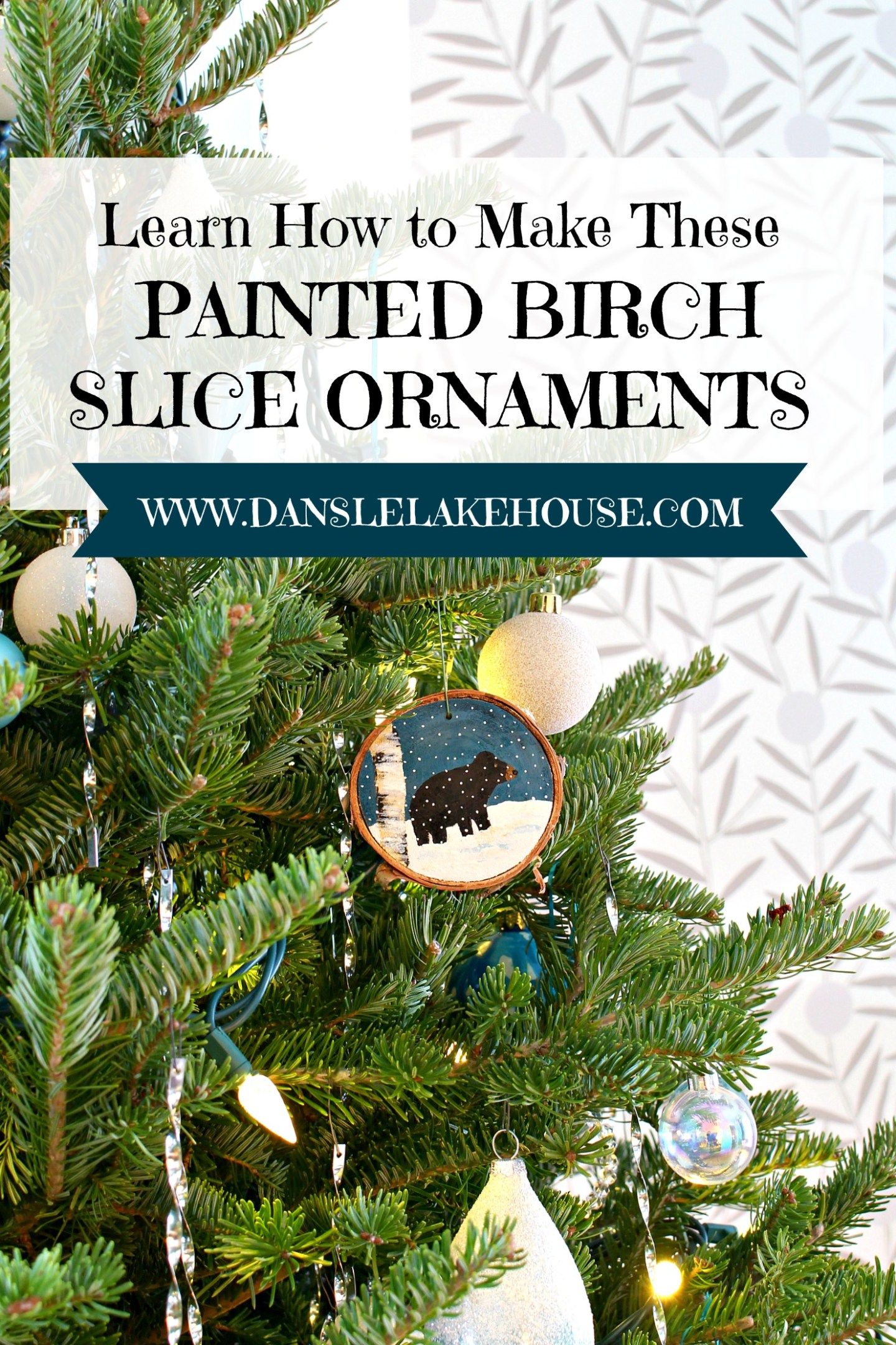 Learn How to Make These Painted Birch Slice Ornaments