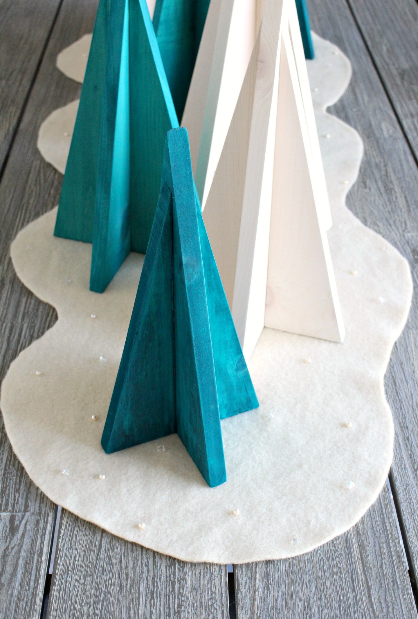 No Sew DIY Wool Felt Runner