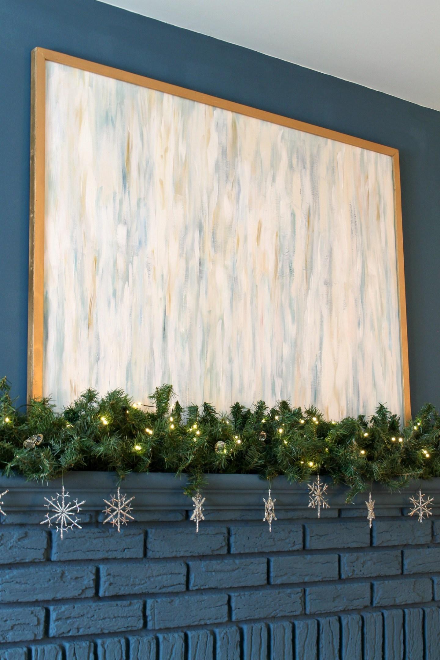 Wintry Mantel Decor Not Christmas