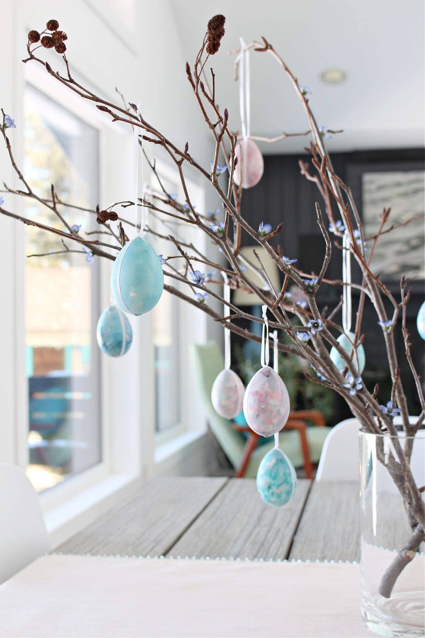 DIY Easter egg tree branches