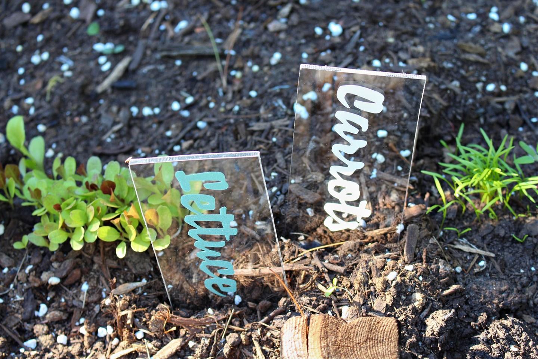 DIY Cricut Garden Labels