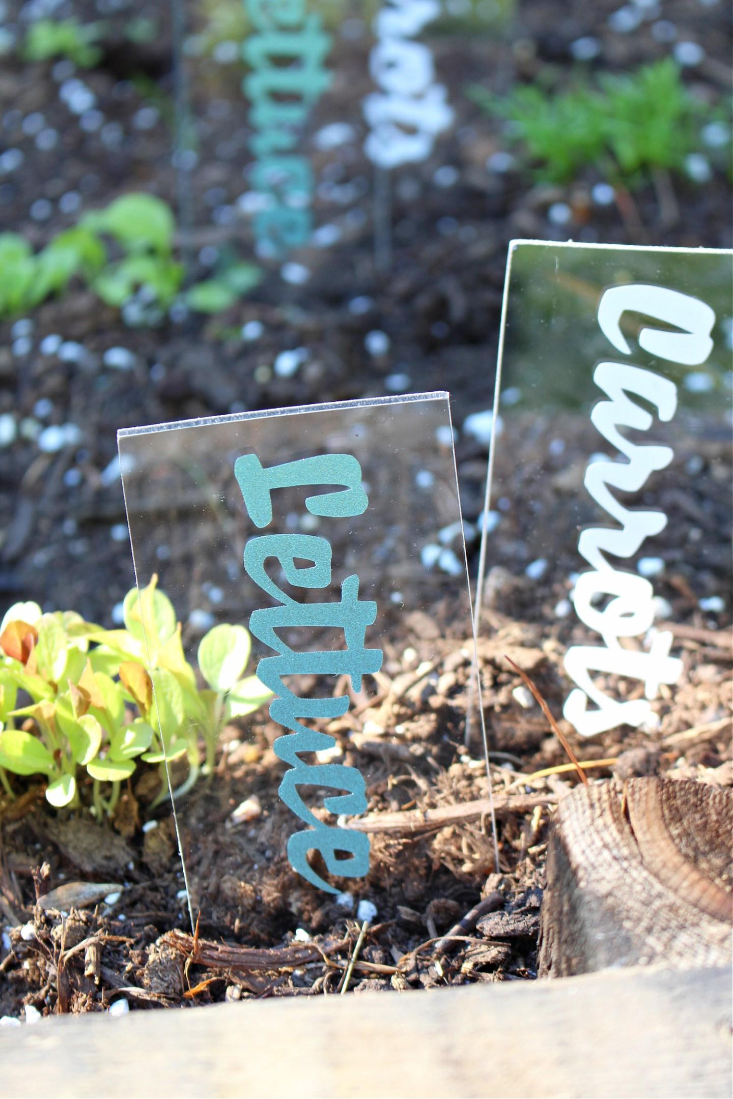 DIY vegetable markers for gardens