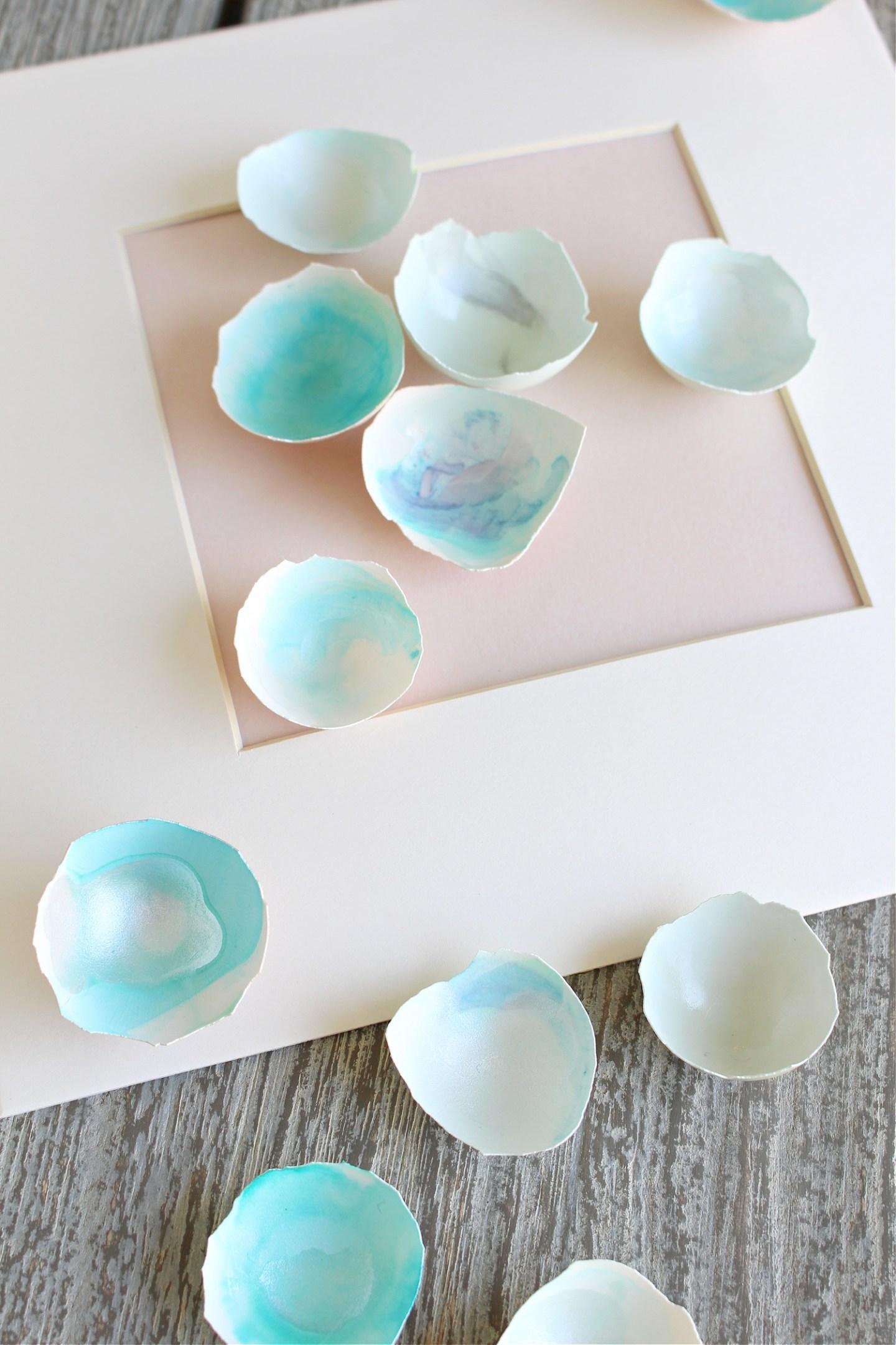 DIY Egg Shell Artwork