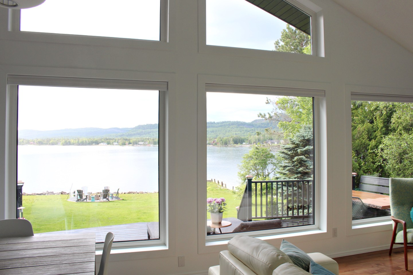 Wall of Windows with Lake View