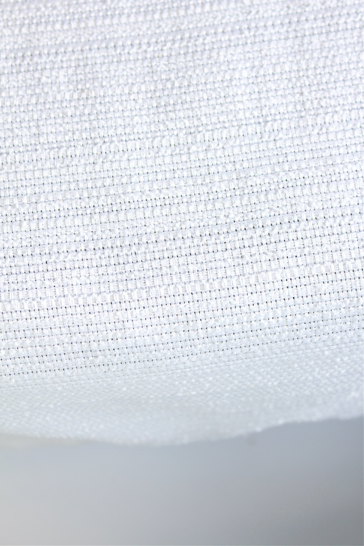 Textured White Table Runner