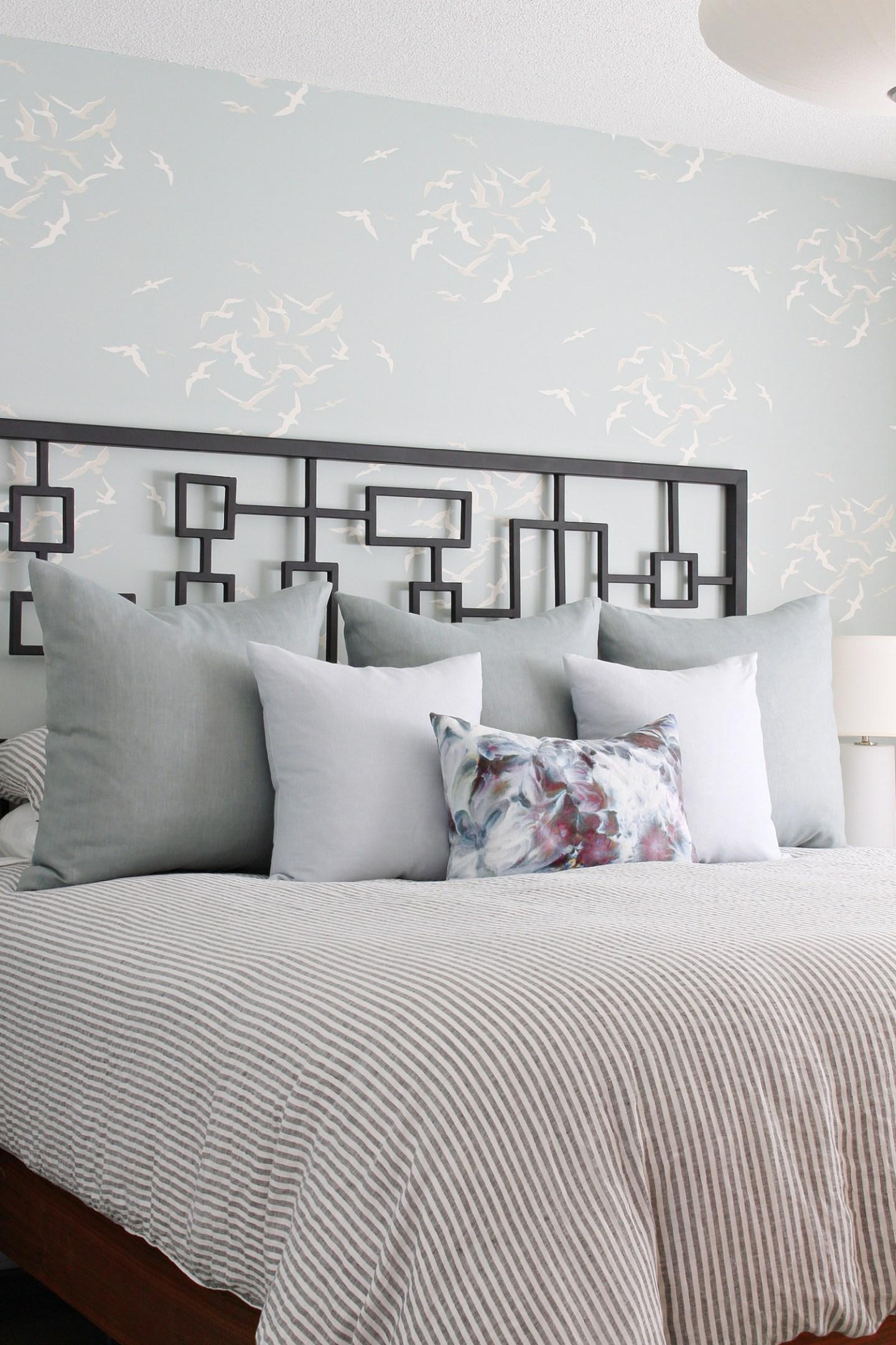 Mid-Century Coastal Bedroom Makeover