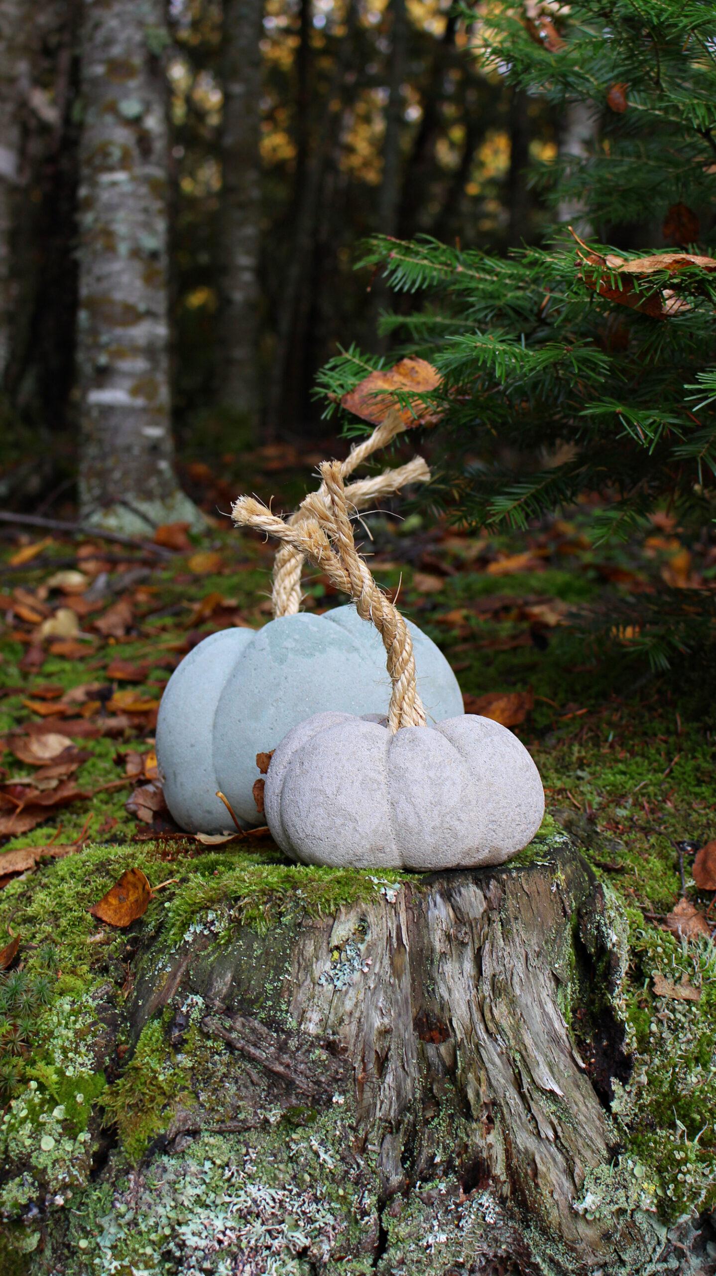 How to Make Concrete Pumpkins