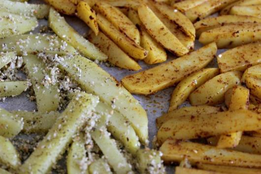 frites au four avant cuisson